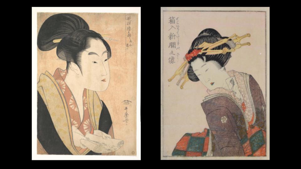 Non ero in grado di distinguere fra Utamaro e Hokusai.
