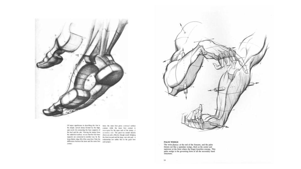 Immagini da un manuale di disegno occidentale.