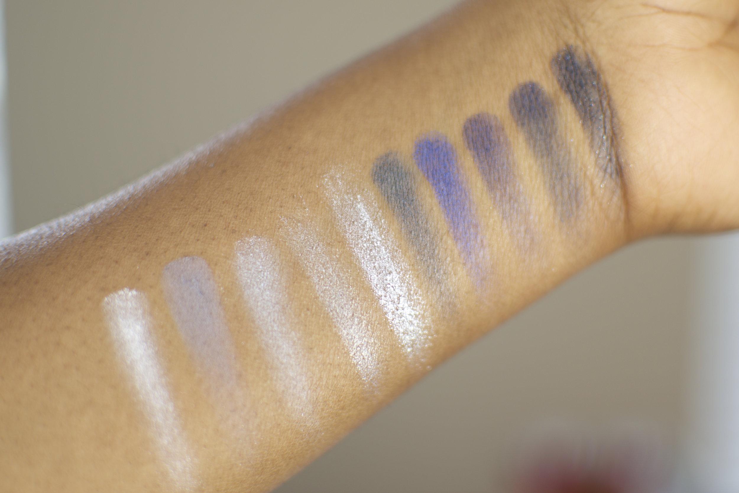Clarins Palette Makeup Blue Shimmer Glitter Diamond Blue Swatch.jpg