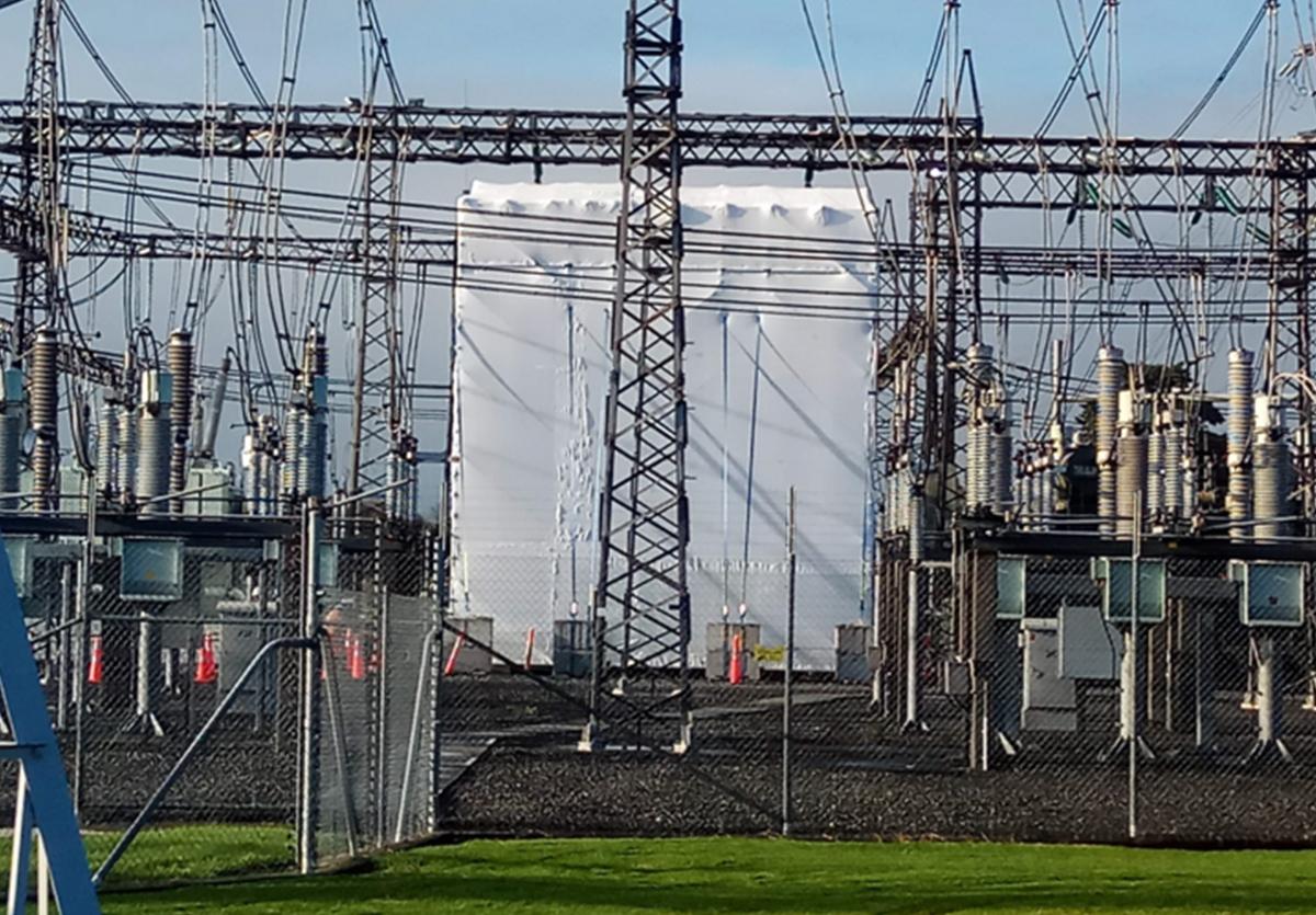 OtahuhuPowerStationShrinkWrapedtower.jpg