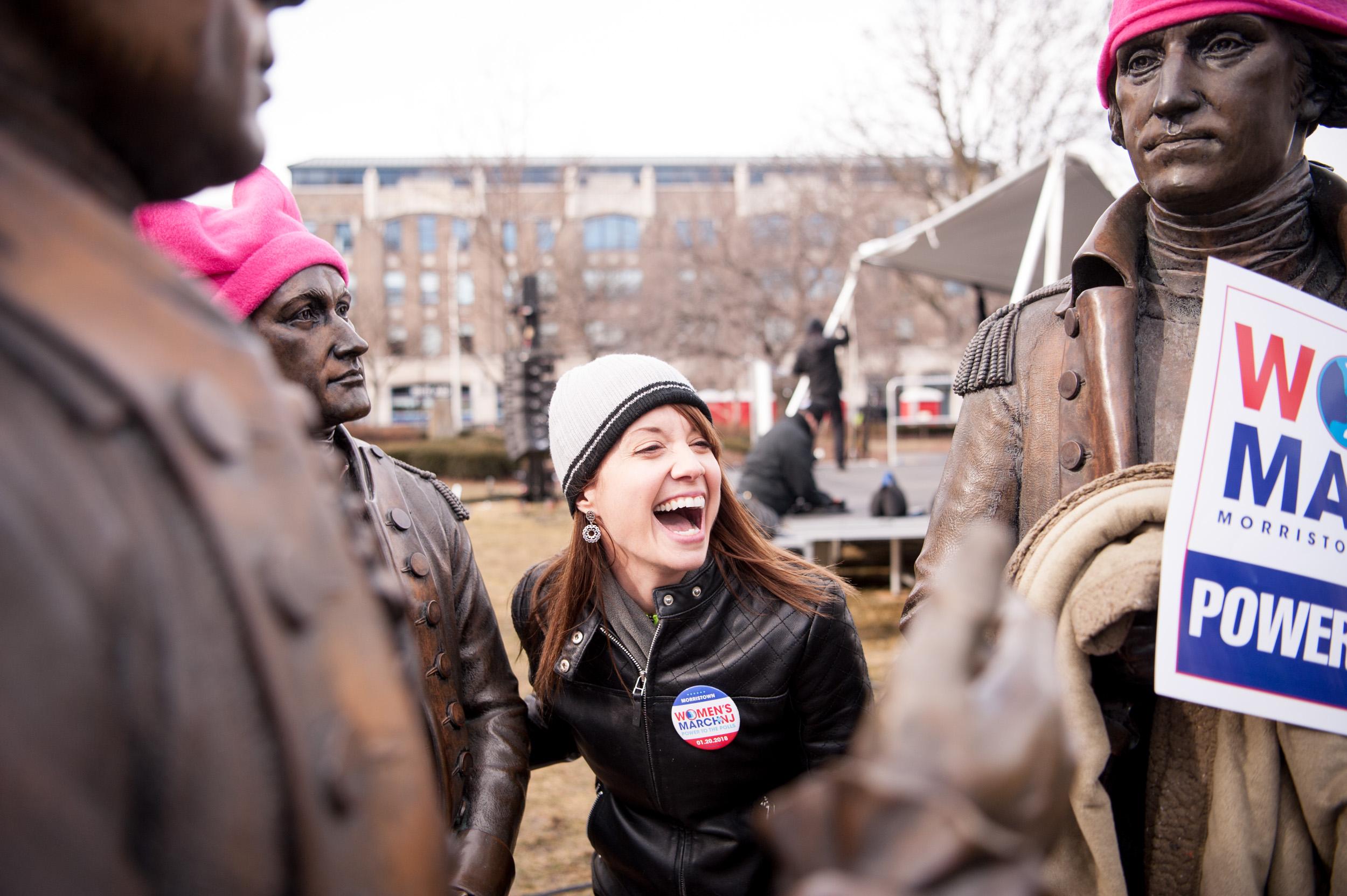 Elizabeth Meyer, organizer of the Women's March on NJ