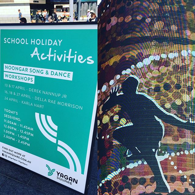There's done great workshops happening over the school holidays down @yagansquare. We saw Derek Nannup three today teaching the kids about culture and music. And pop into @maalinup_yagansquare whilst you're there to pick up a native infused treat!