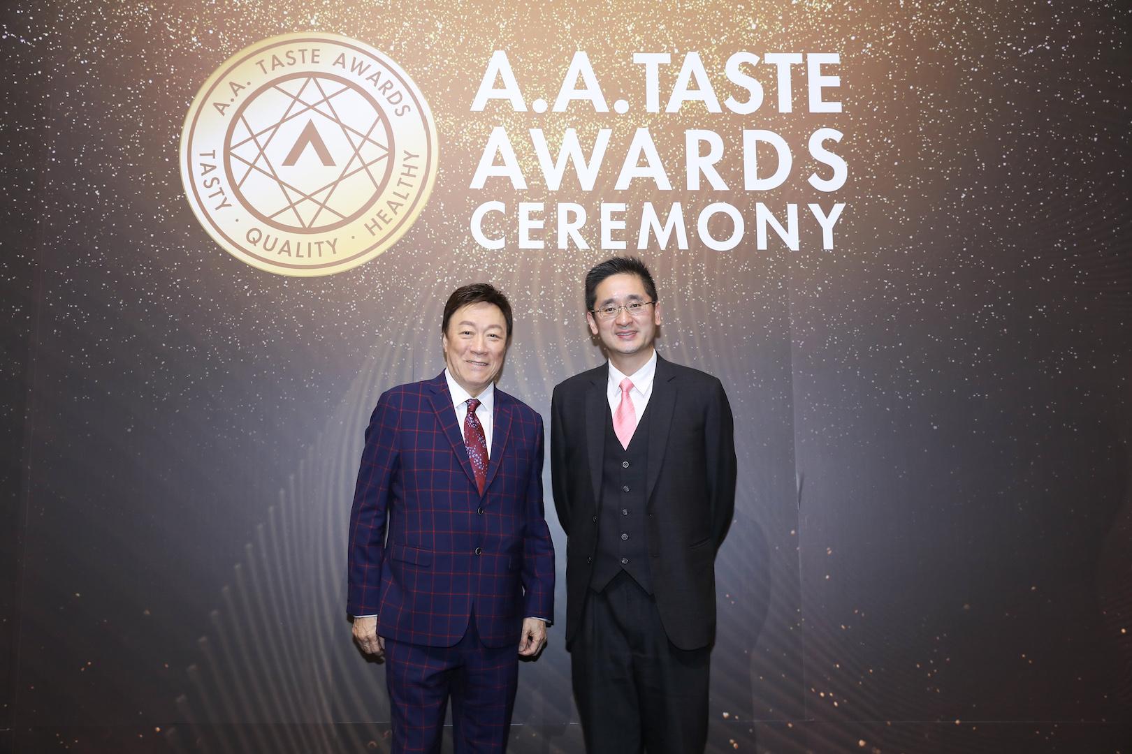 圖:主禮嘉賓香港商務局陳百里副局長及傑出跨界媒體人暨美食家陳欣健先生