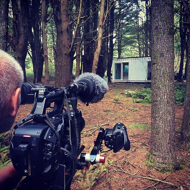 #reuters #tv trekked up to the woods to shoot our buildout for an upcoming episode of their show Generation Maker. We'll let you know when it's going to broadcast #container #cabinlife #cabinporn #ecofriendly #offgrid #woods