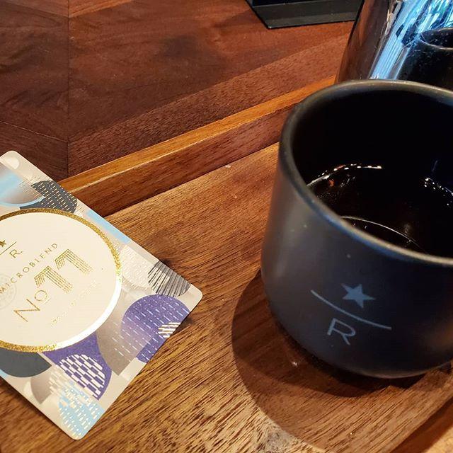 Today I get to visit the Starbucks Reserve Bar at 123 Mission Street in San Francisco! Beautiful! I'm loving my Micro Blend No. 11! @starbucksreserve @starbucksreservebarsf #starbucks