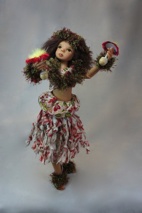 Just one example of an exquisite original fine art doll by Bo Bergemann® which sold long ago but is still available as an art print to add a touch of beautiful Hawaii to your room's decor.