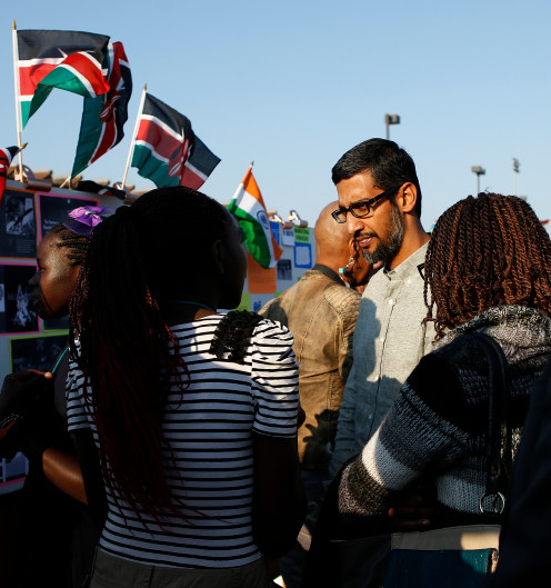 Sundar Pichai, Google CEO, appears at an non-profit-organized event in Mountain View in 2017. Google on Tuesday embarked on a wide-ranging quest to invest $1 billion on a series of initiatives to ease the Bay Area's brutal housing crisis — including rezoning some office and commercial sites for housing.  By   George Avalos      gavalos@bayareanewsgroup.com  and   Emily DeRuy      ederuy@bayareanewsgroup.com    Bay Area News Group  PUBLISHED: June 18, 2019 at 9:00 am   UPDATED: June 19, 2019 at 8:10 am