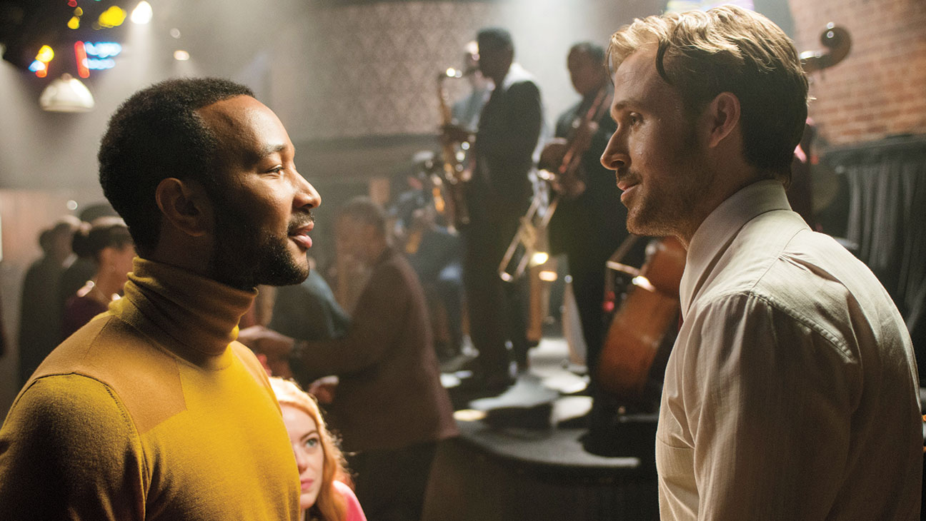 Keith (John Legend) and Sebastian (Ryan Gosling) in La La Land
