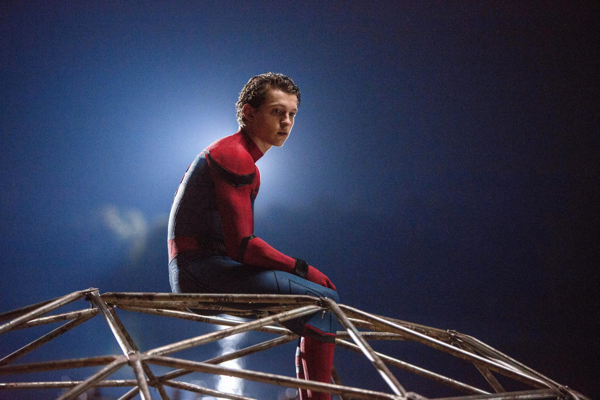 Tom Holland as Peter Parker in Spider-Man Homecoming