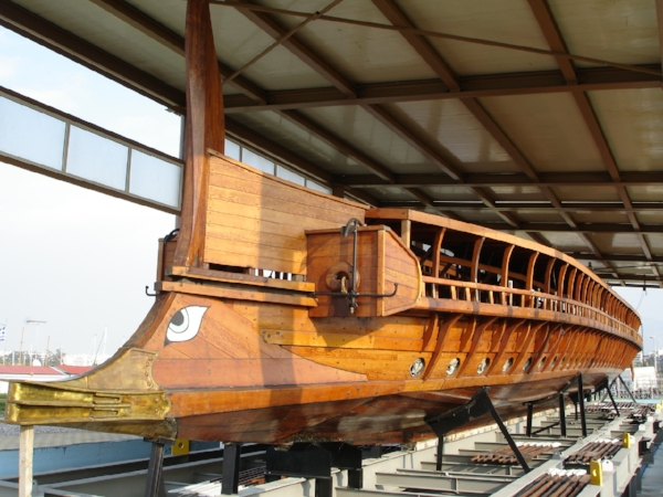 H. N. Olympias, a modern replica of a Greek trireme, similar to what St. Paul would have sailed on