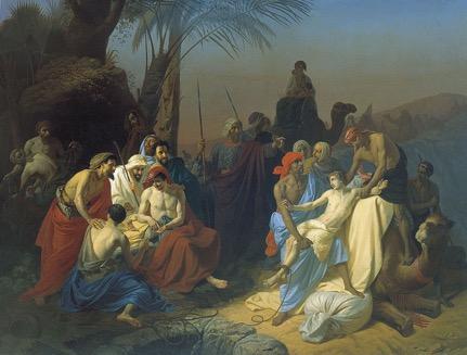 "Konstantin Flavitsky, ""Jacob's Sons Sell Joseph into Slavery"" (1855)"