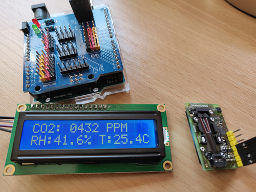 Displaying data from the absolute orientation sensor on the 4D systems LCD screen that was included in the starter kit.