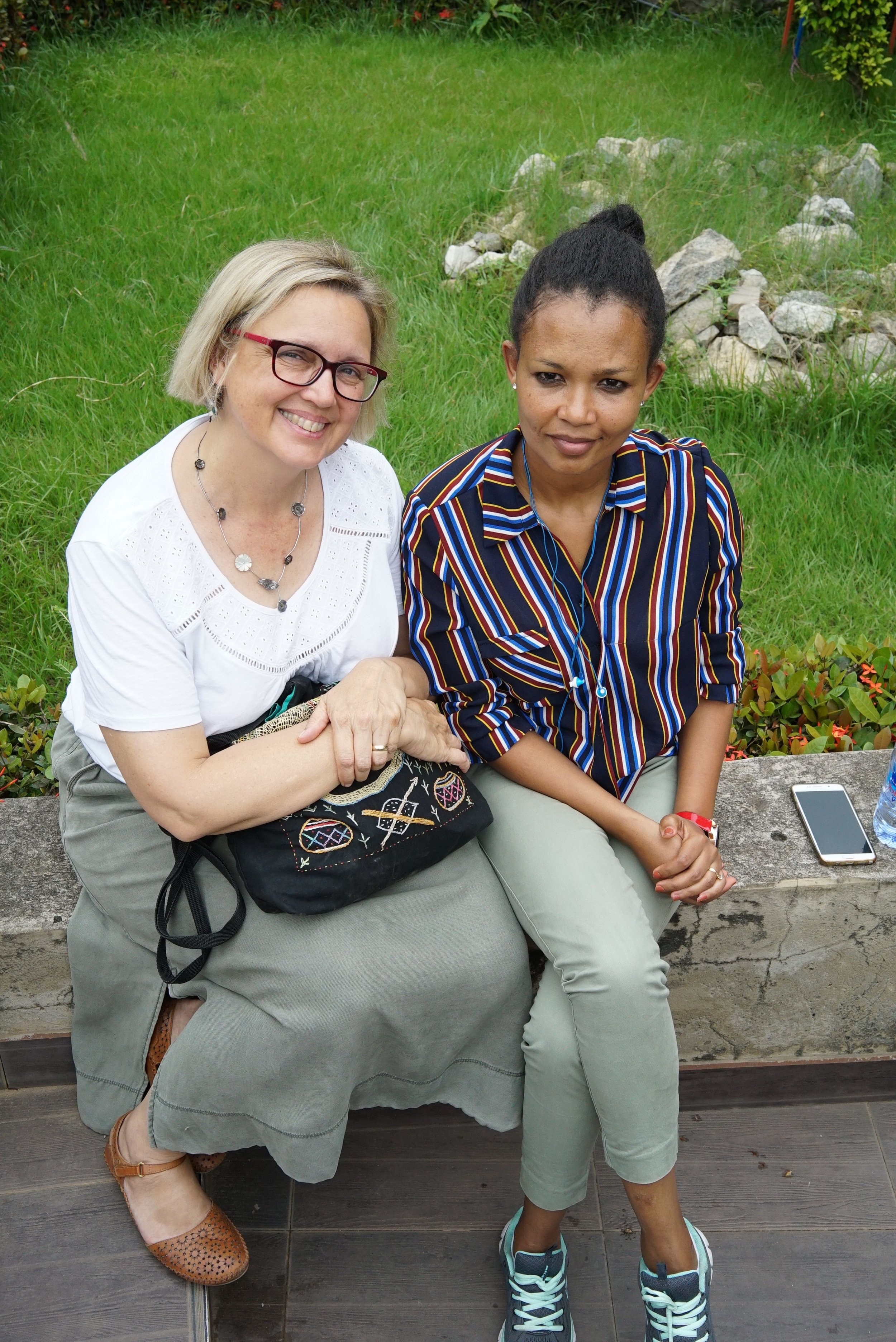 Dr Lara Allen (Director, Centre for Global Equality) and Sewnet Alemu (researcher from Bahir Dar University)