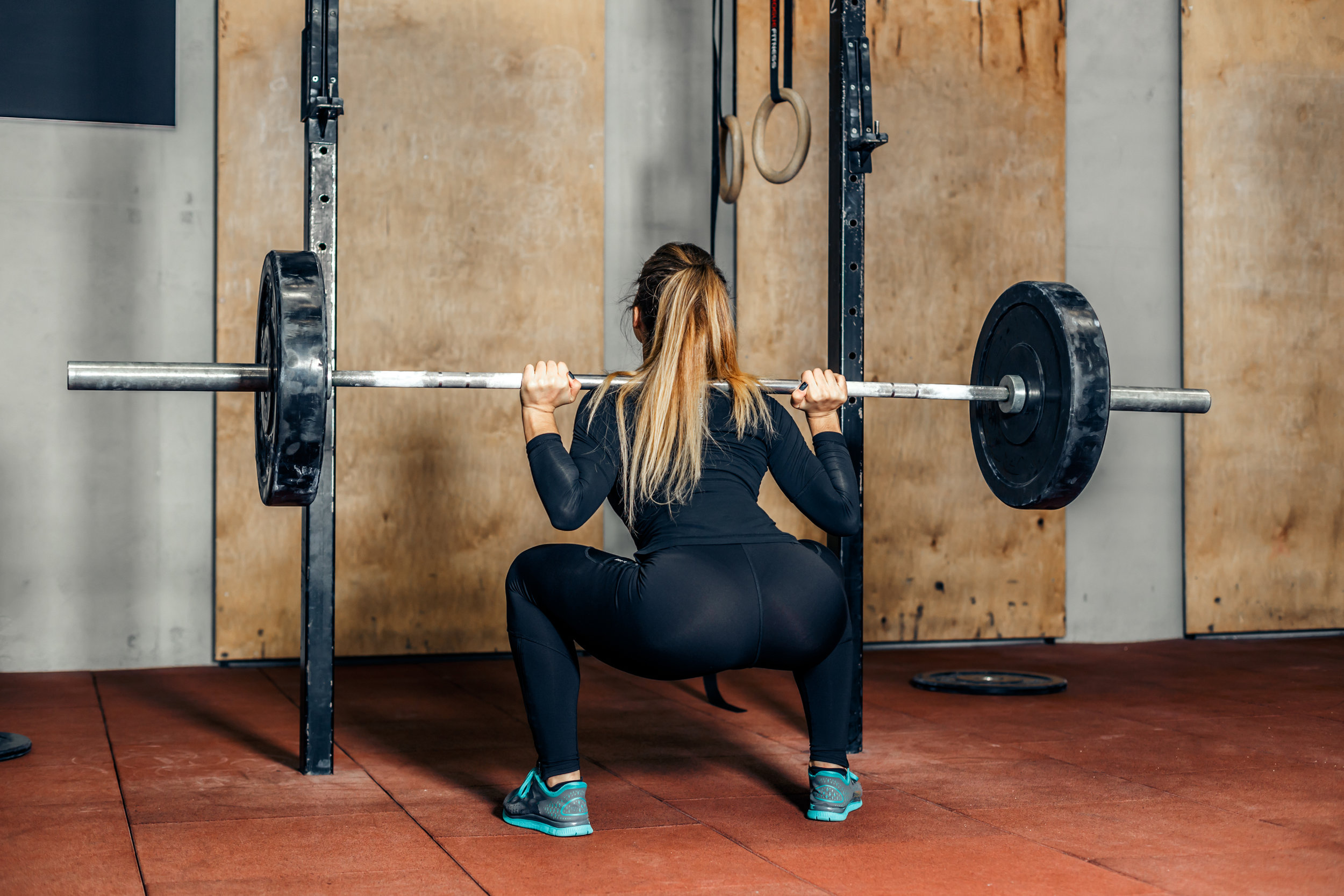 The Back Squat can be a challenge for someone with poor mobility and lack of extension in the thoracic spine. This makes it difficult to get the hands back behind the shoulder line, and in doing so can force excessive extension into the lumbar spine, creating a forward tilt of the pelvis.