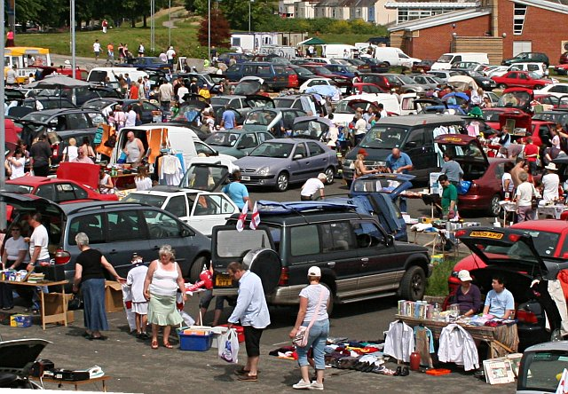 Where much of the fitness stuff we buy often ends up: The Car Boot Sale.