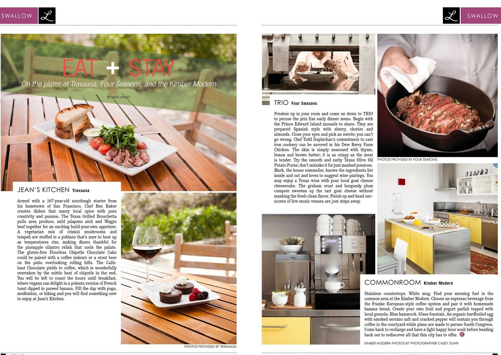 Food and hospitality magazine article