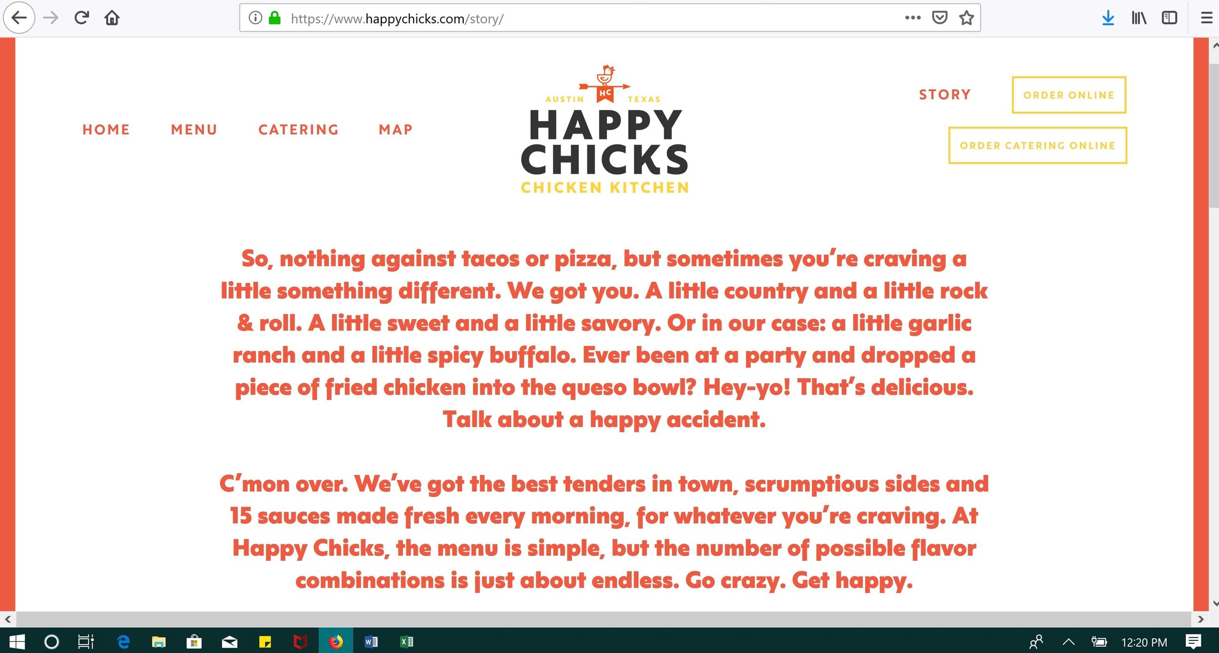 Restaurant Copywriting and Brand Story