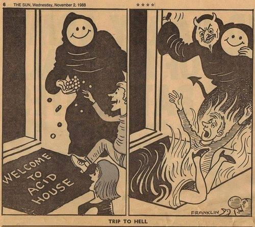 The Sun newspaper's famous 1988 acid house cartoon.