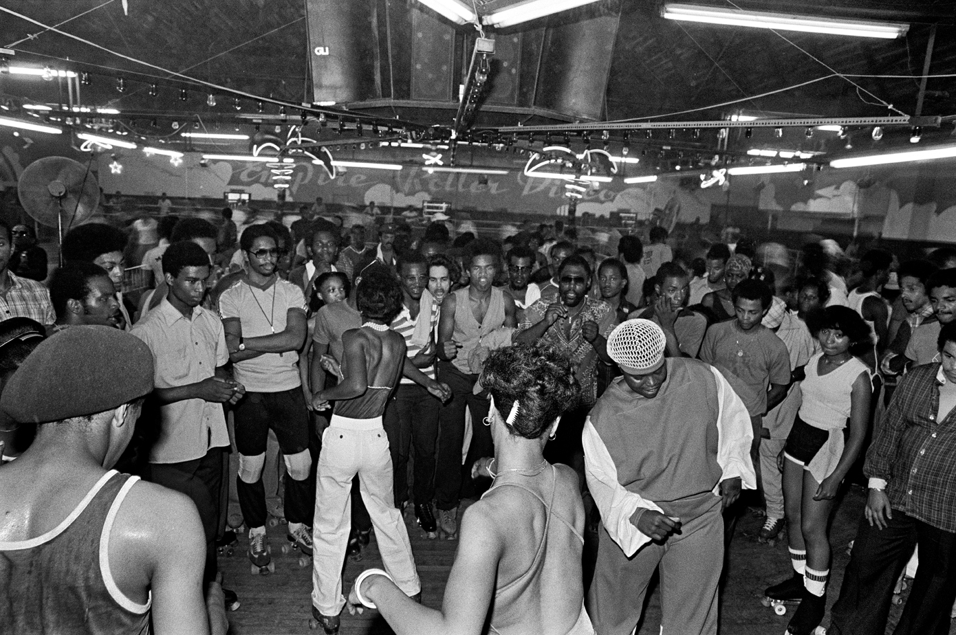 "Empire Roller Disco, 1979, © Bill Bernstein from DISCO: The Bill Bernstein Photographs"" (Reel Art Press, 2015)"