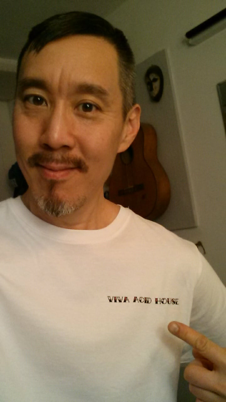 DJ Danny Wang who conducted this interview wears Boy's Own  'Viva Acid House'  T-shirt on sale now!