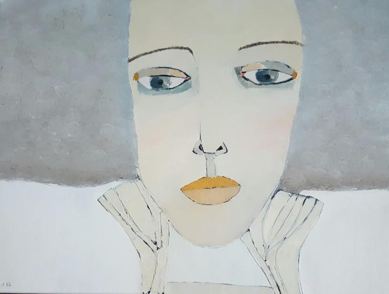 Lady Grey, 60 x 80 cm i olja. Denna tavlan är givetvis också med på utställningen i Vällingby.