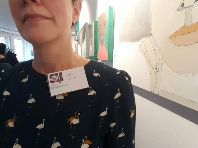Svenska Konstnärsförbundets namnskylt, jodå tjusigt värre ;-)