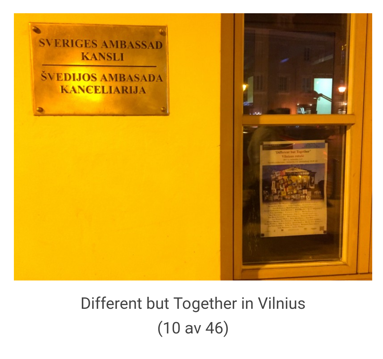 Reklam affisch för utställningen på Sveriges Ambassad i Vilnius, Litauen.  Bild: Artnetco