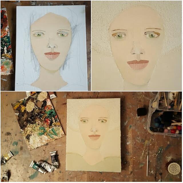 Den kreativa processen kring tavlan  Grace , 30 x 40 cm i olja.