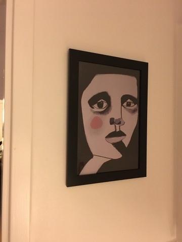 Fick även en beställning på att trycka upp en av mina tavlor som affisch. Så här blev det väldigt lyckade resultatet hos kunden!