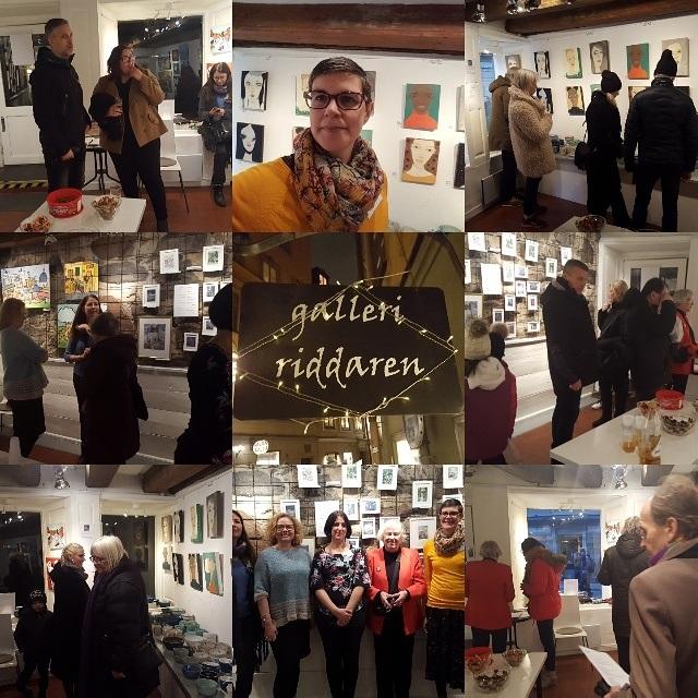 Bildcollage från utställningen på Galleri Riddaren i Gamla stan. Pågick 8-14 december.