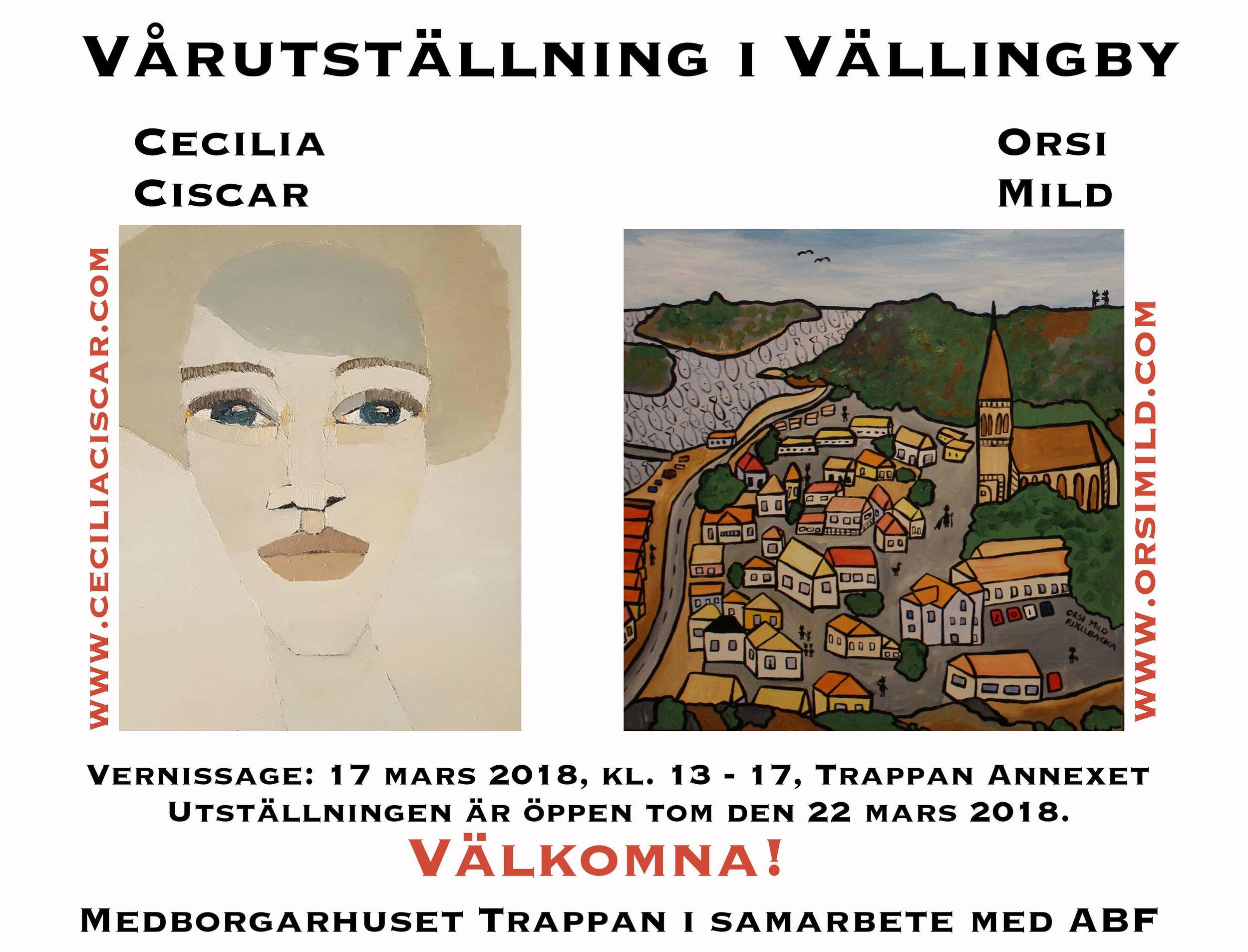 Utställningen i mars med Orsi Mild i Vällingby Trappan (Annexet). En favorit i repris ;-)