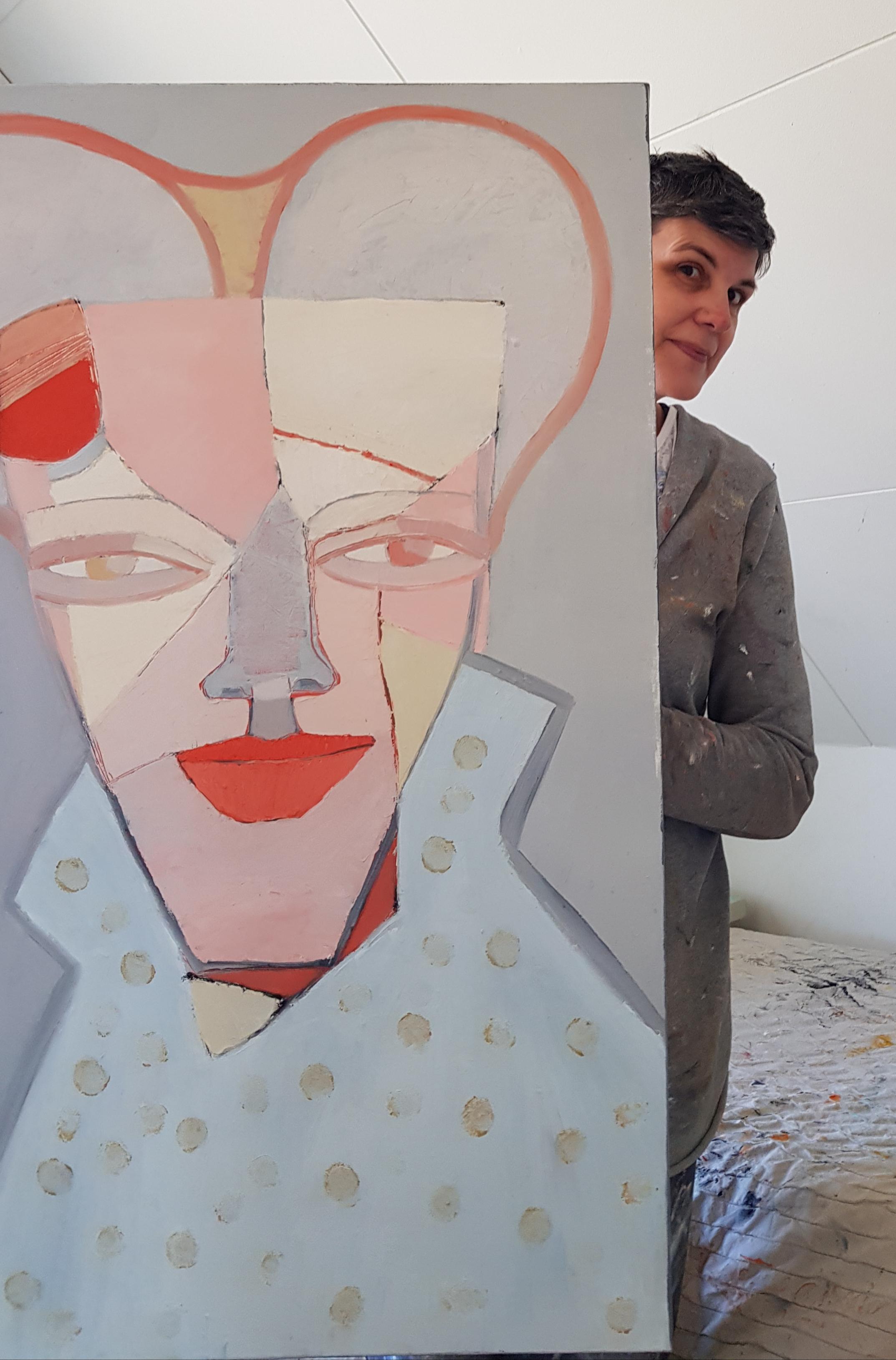 """The """"Queen"""" och jag, 70 x 100 cm i olja."""