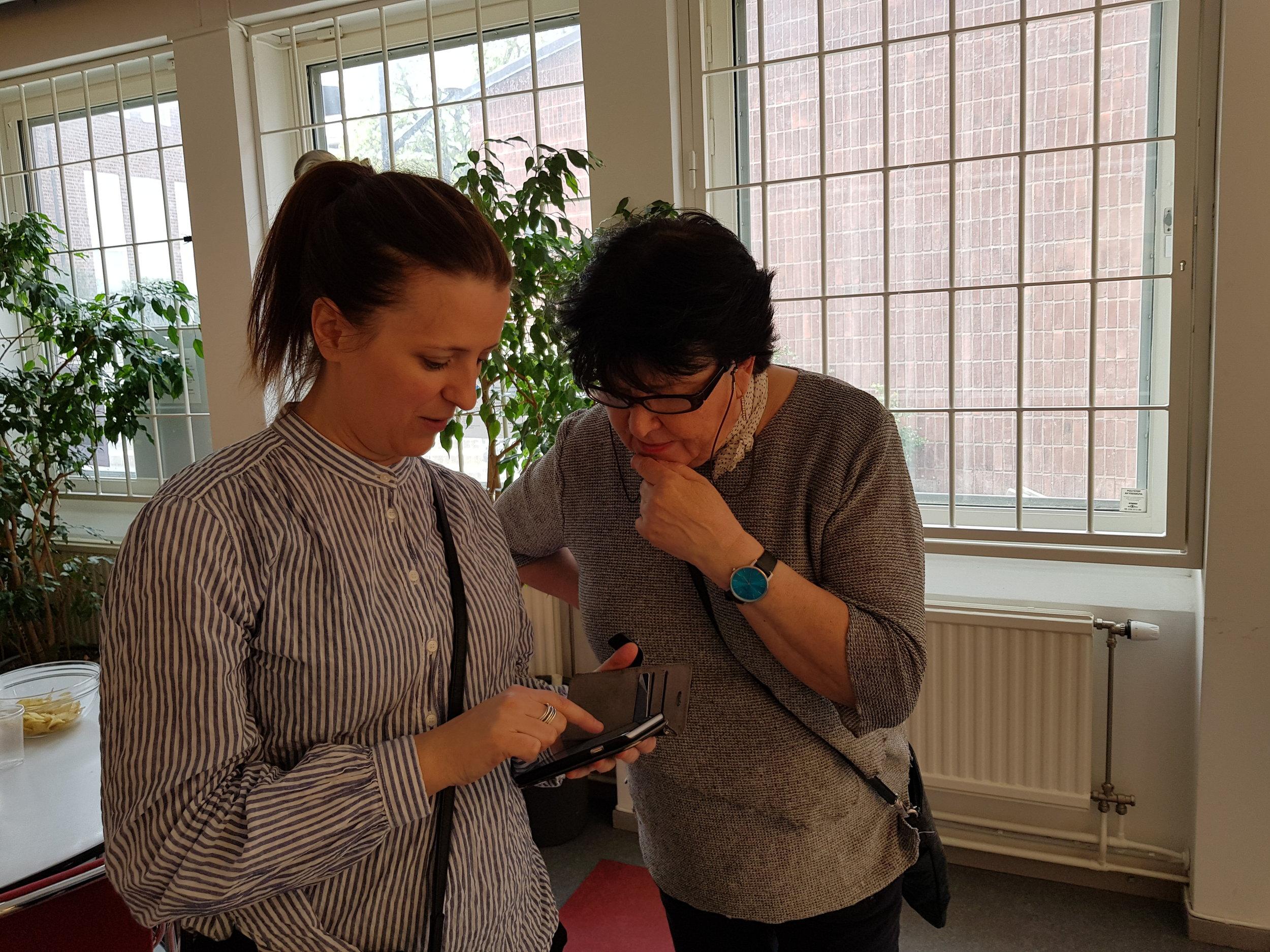 Orsi Mild och Kerstin Math.