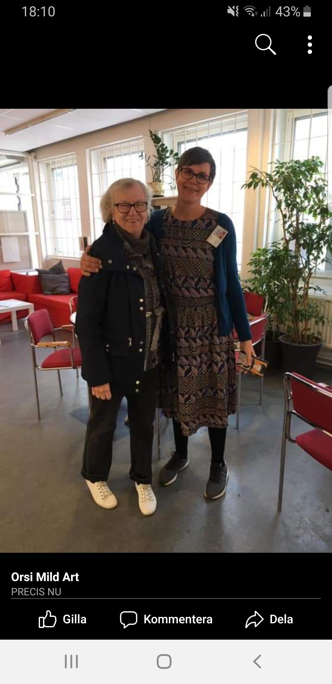 Kjerstin Krantz och jag. Foto: Orsi Mild