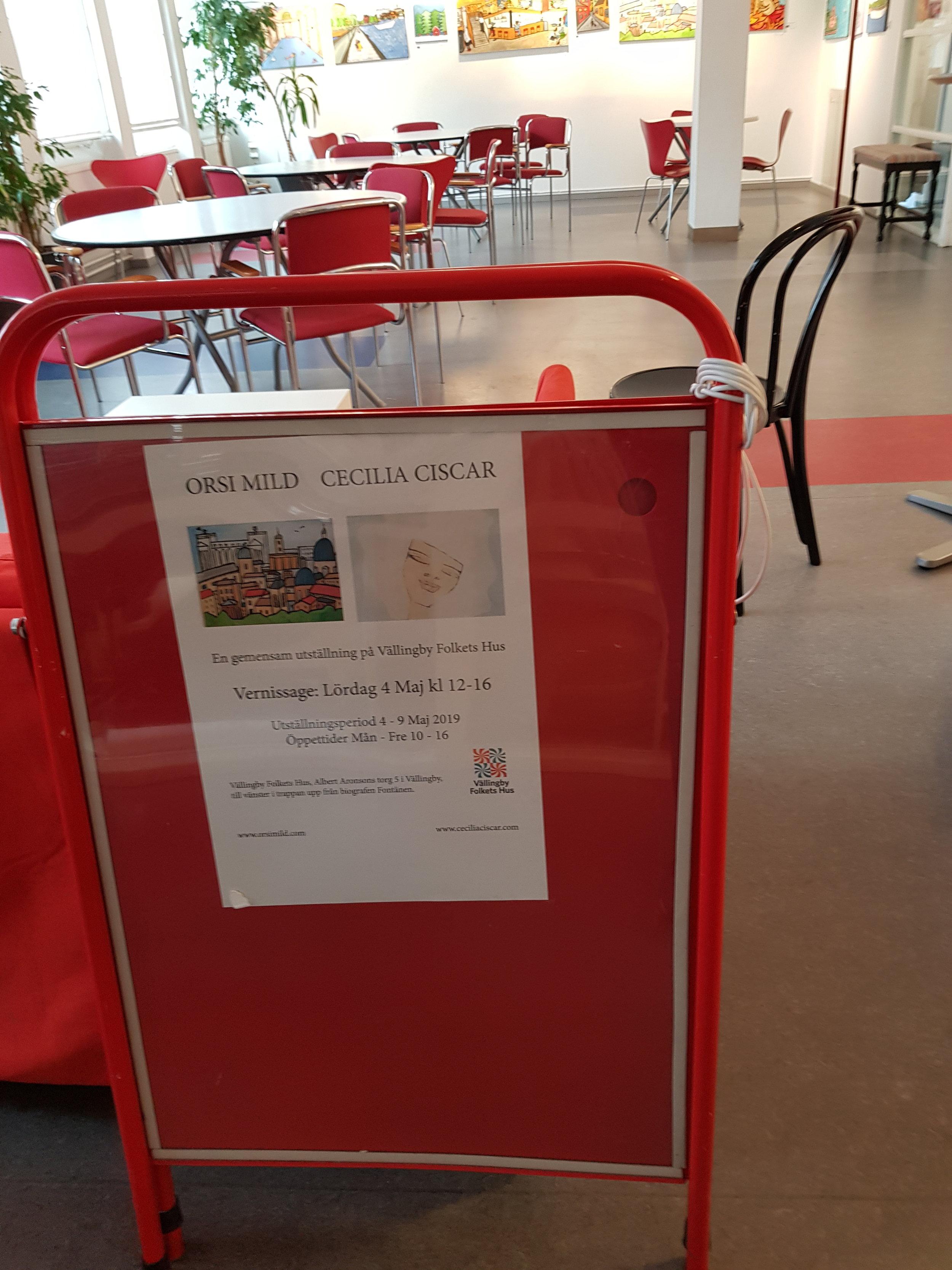 Sista dagen i torsdags för utställningen på Vällingby Folkets hus.
