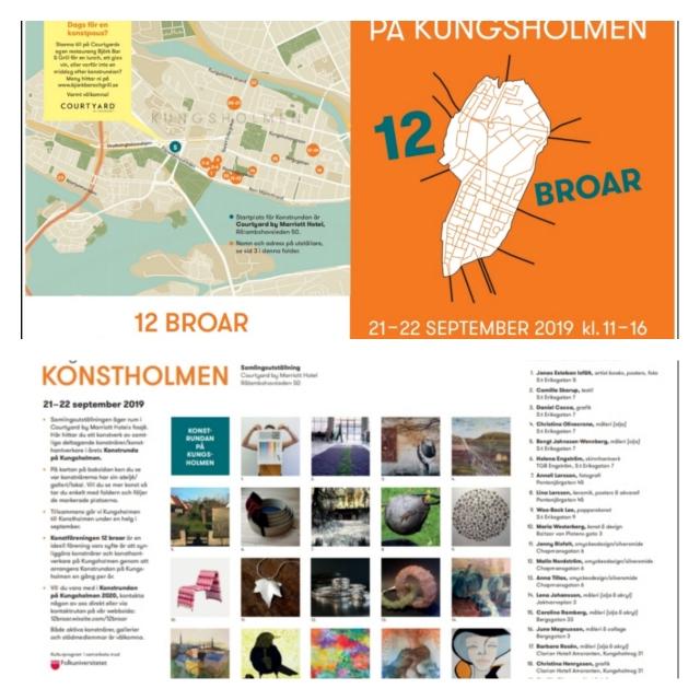 23 konstnärer deltar på Konstrundan på Kungsholmen, varav jag är en. Stolt och glad!