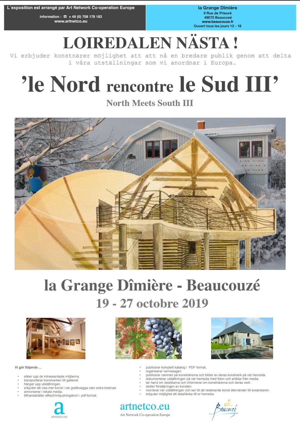 Deltar på denna utställning i Frankrike med en tavla. Spännande! Foto: Arrangören, Artnetco