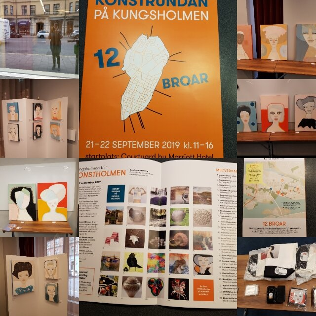 Min konst på Konstrundan på Kungsholmen 2019, på Hotell Clarion Amaranten.