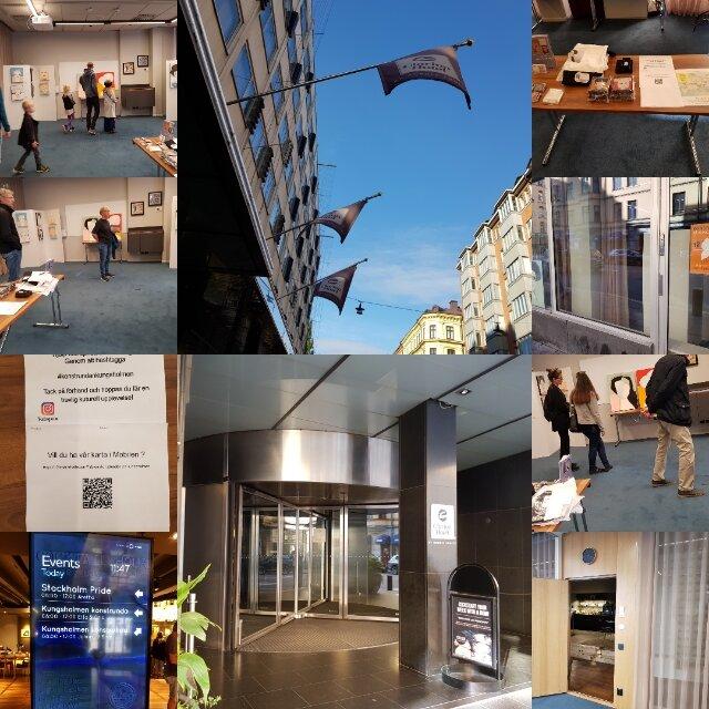 Min konst på Konstrundan på Kungsholmen 2019, på Hotell Clarion Amaranten