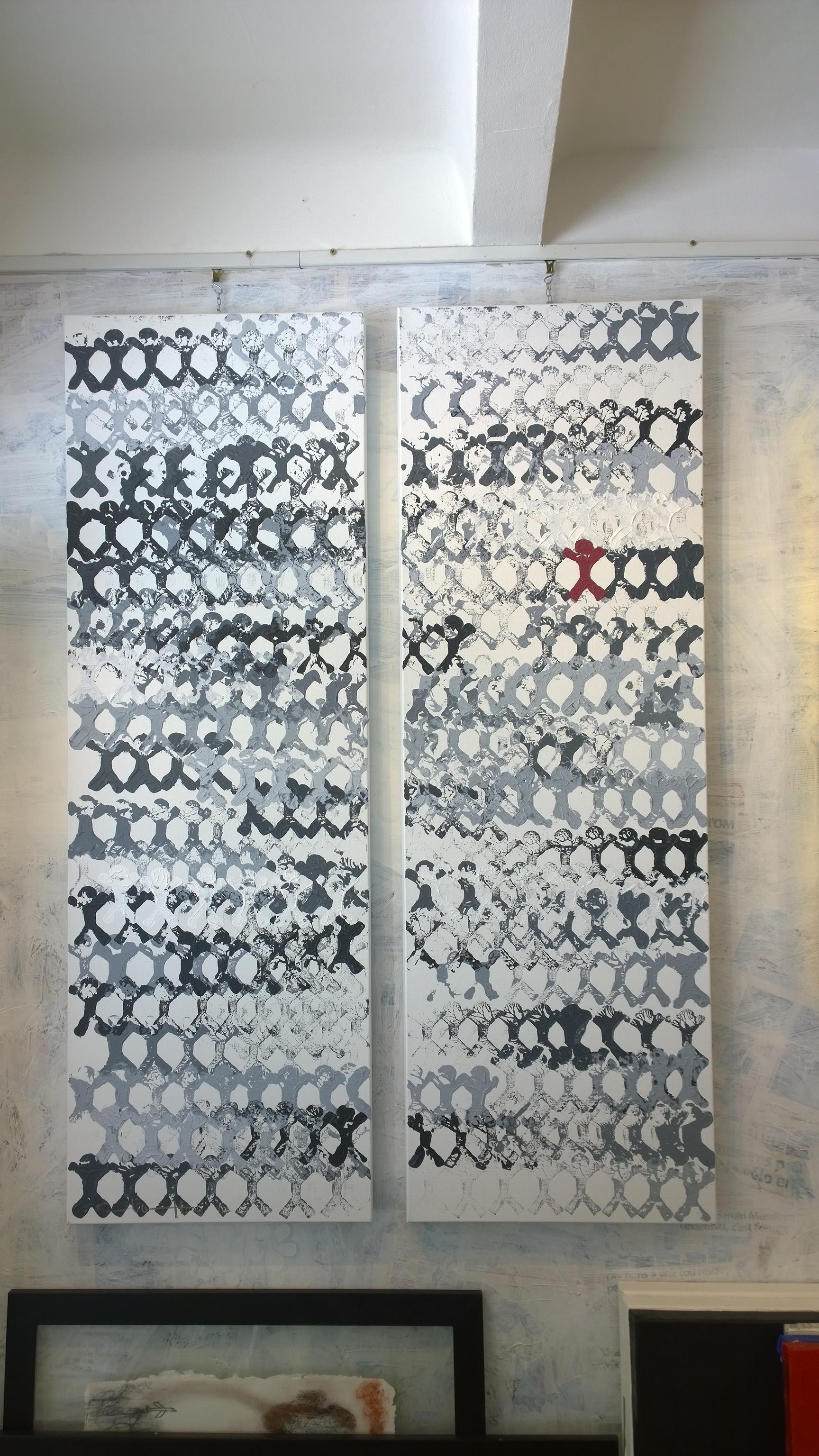 YOU ARE EXCEPTIONAL (tu est exceptionnel)  acrylique sur toile, DIP-TIC, 150x100cm  3'100 euros