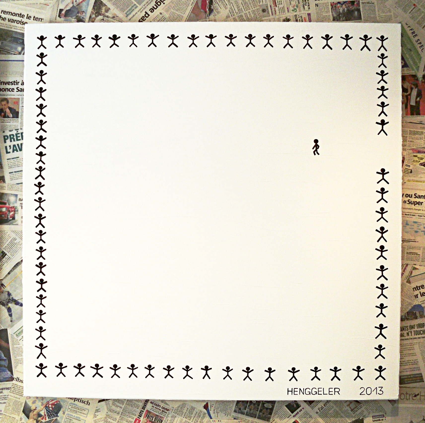 MY WAY (à ma façon)  acrylique sur toile, 100x100cm  2'800 euros