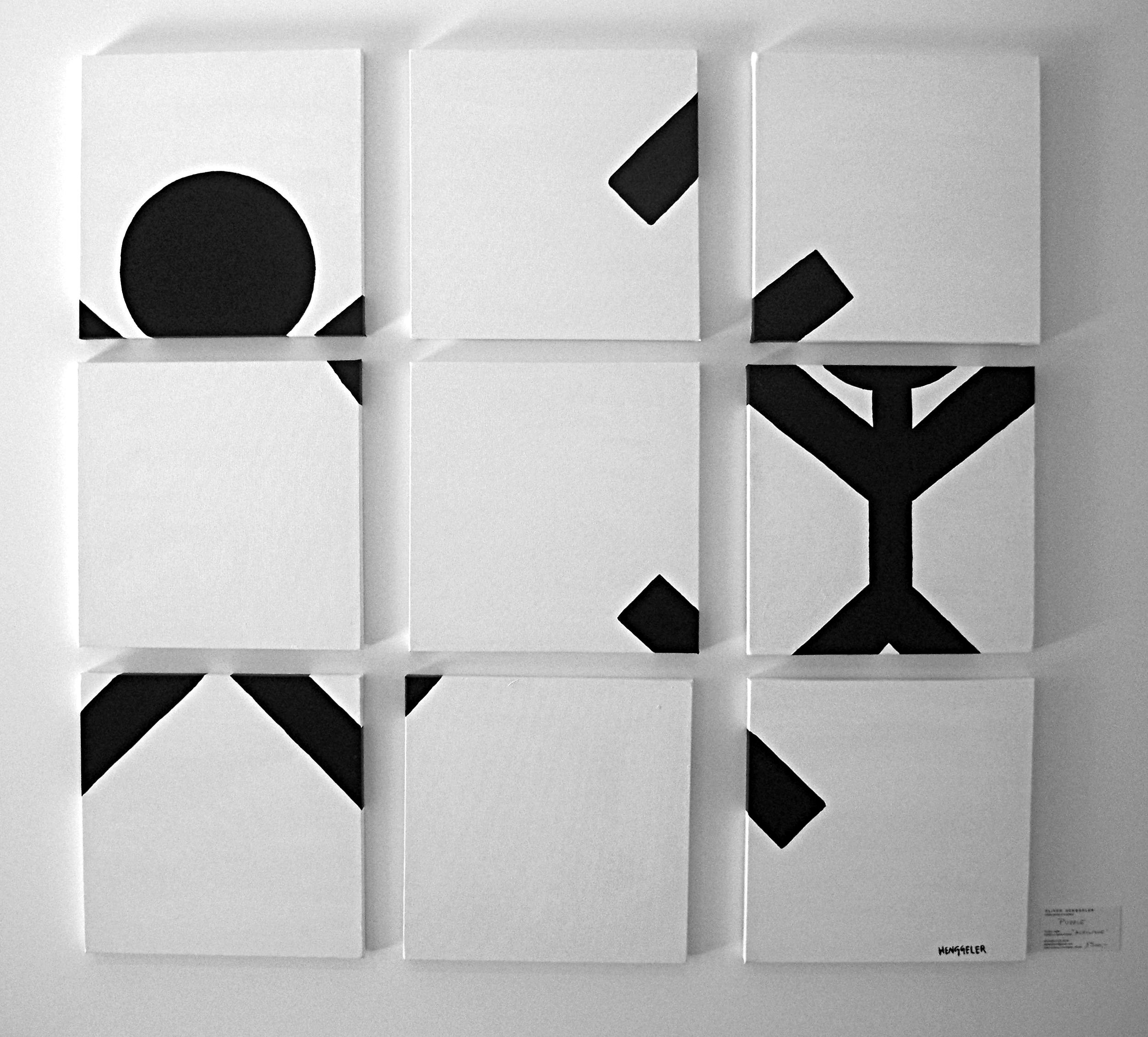 PUZZLE  acrylique sur toile, 9 tableaux 30x30cm  VENDU