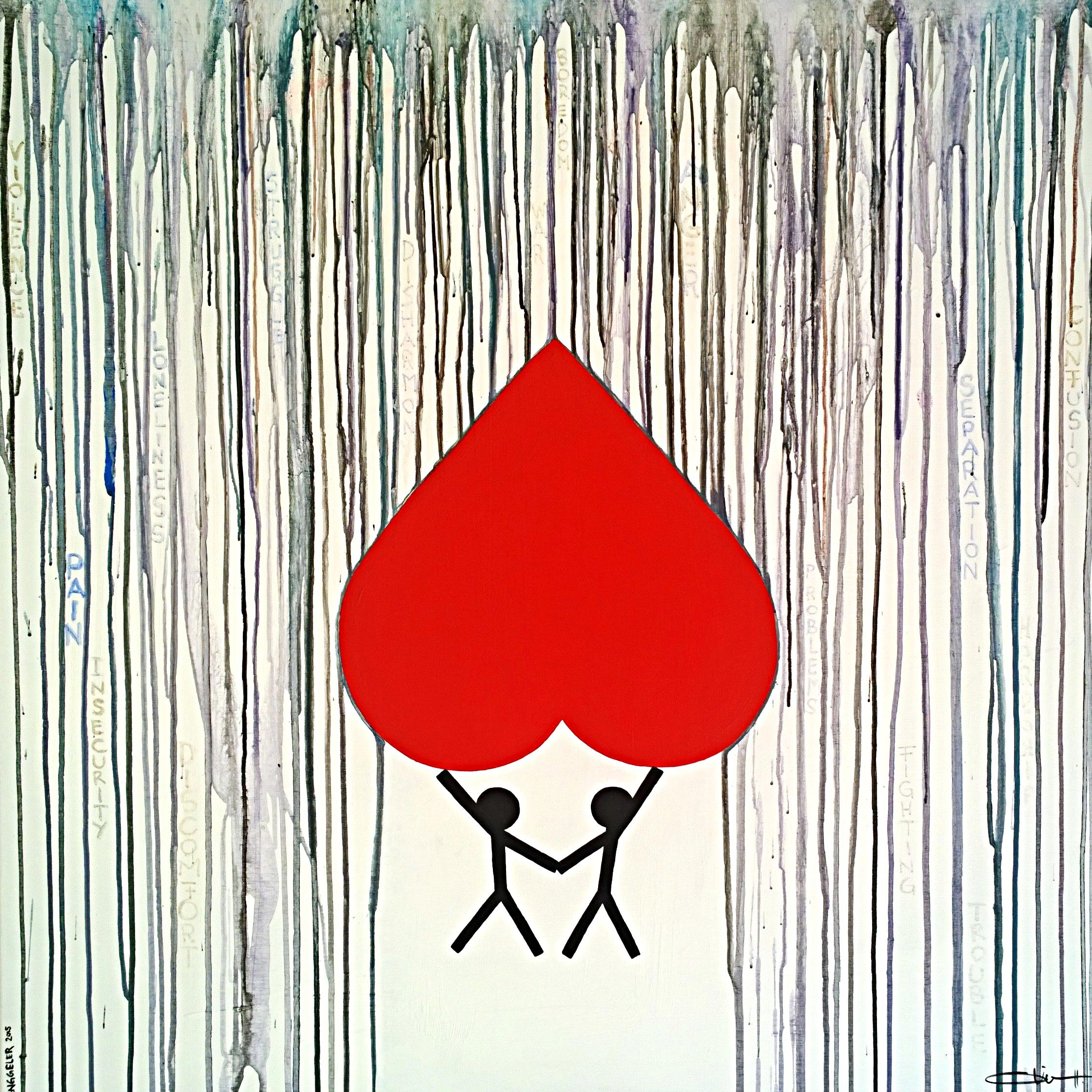 PROTECTION  acrylique sur toile, 100x100cm  VENDU