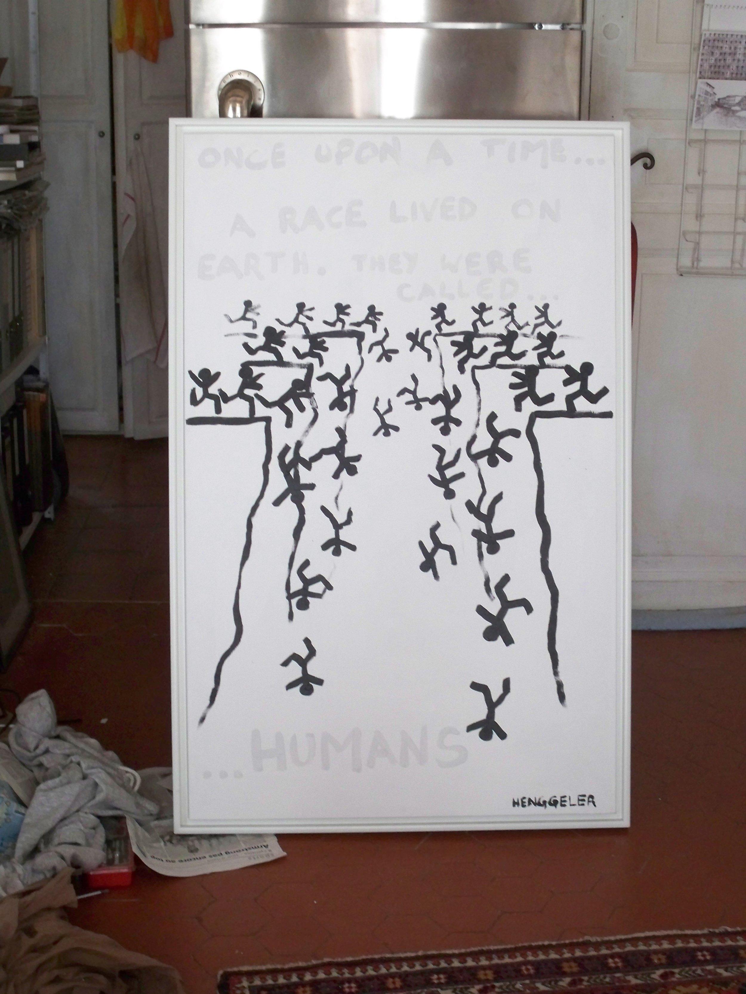 ONCE UPON A TIME ... (il y etait une fois …)  acrylique sur toile, 73x116cm  2'400 euros