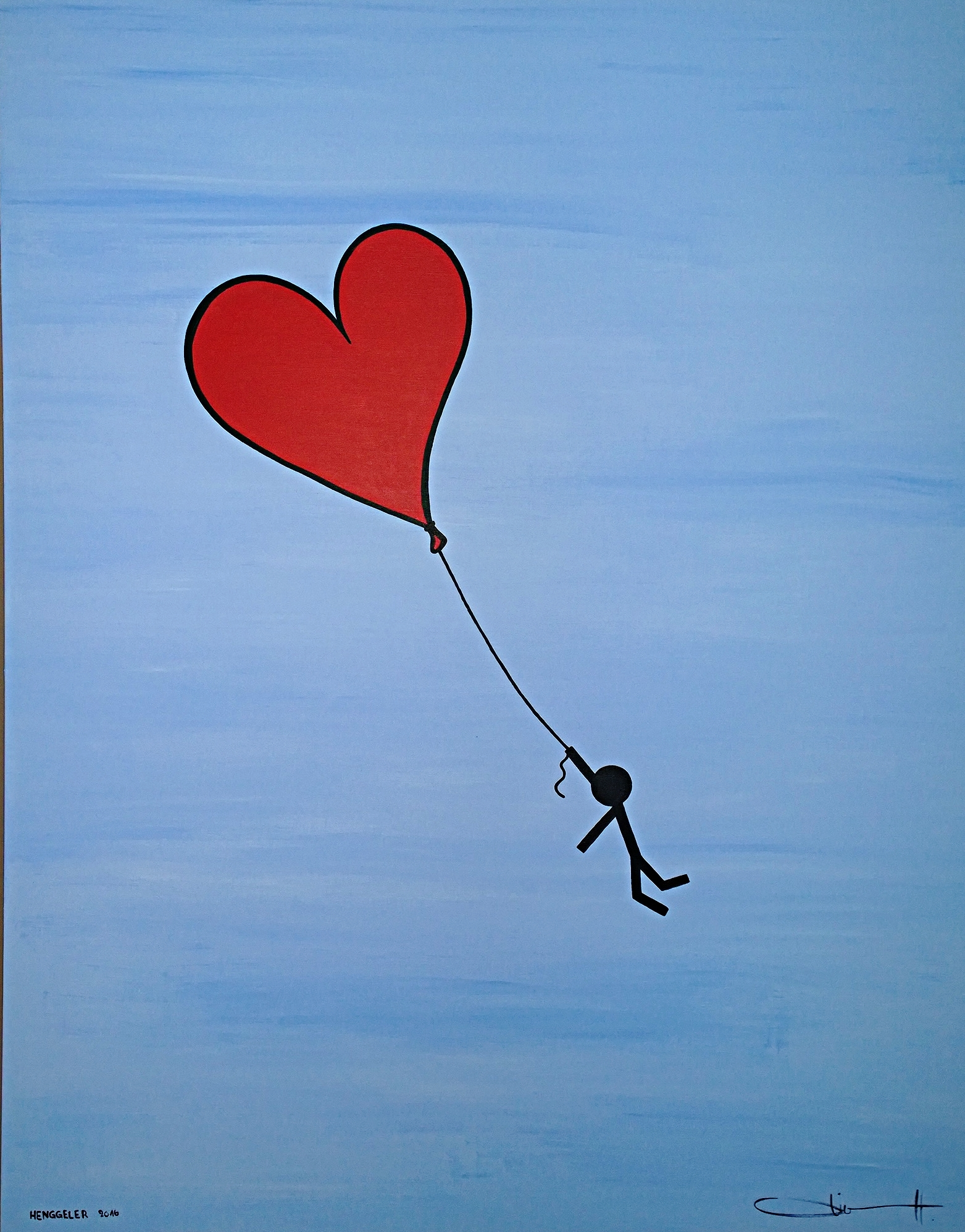 HOLD ON TO LOVE (accroche toi à l'amour)  acrylique sur toile, 150x120cm  3'600 euros