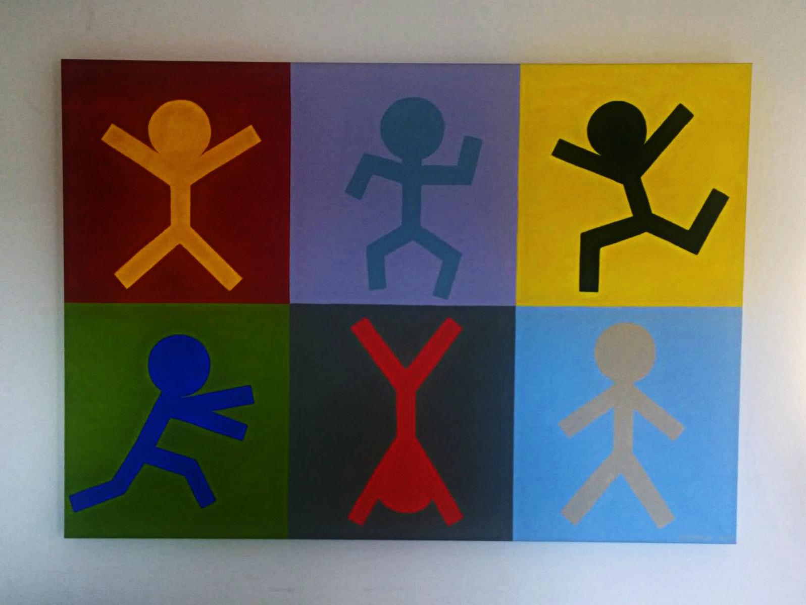LE GOUT ET LES COULEURS  acrylique sur toile, 160x114cm  4'900 euros