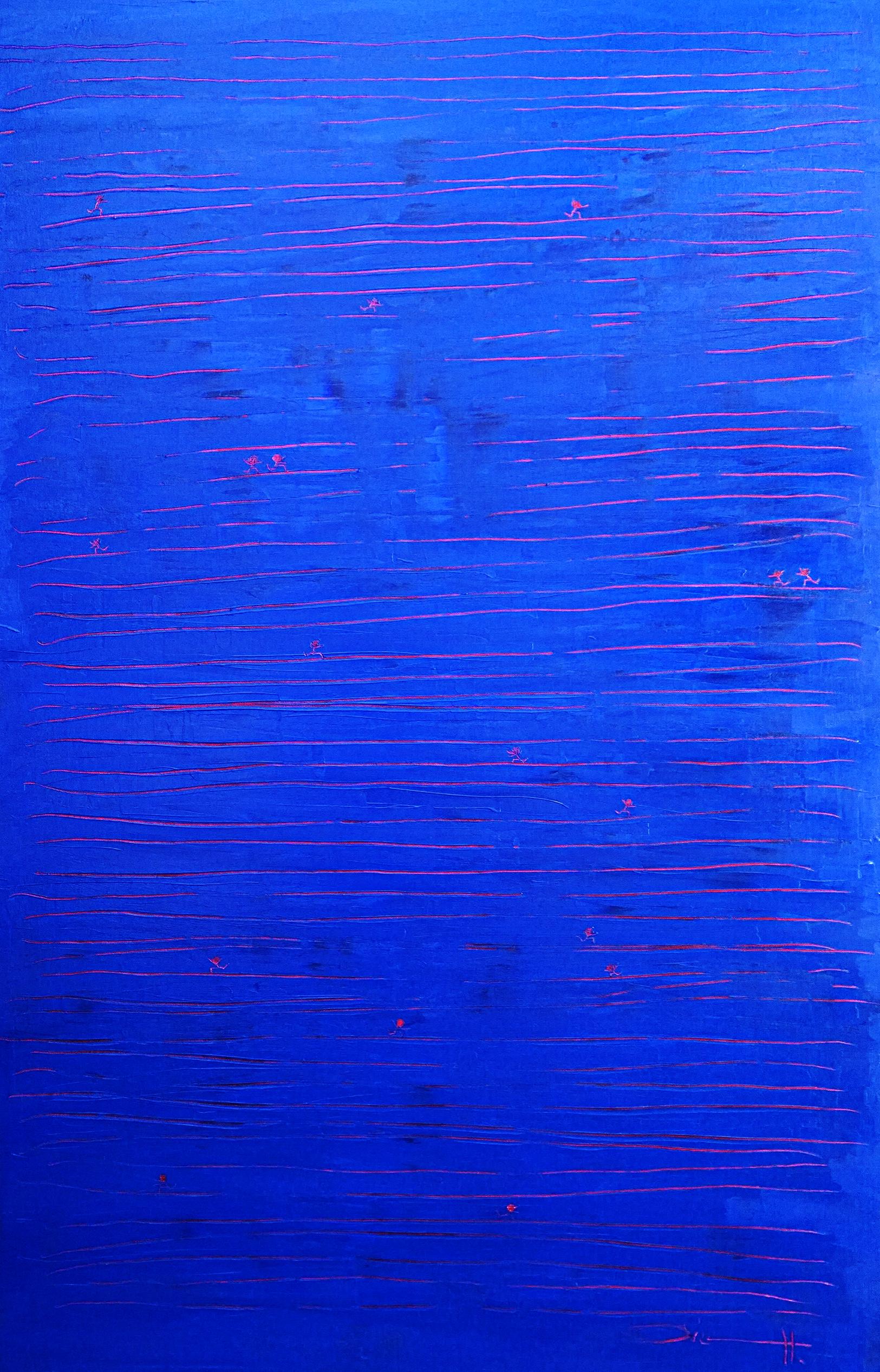 PEOPLE? ANTS? (des personnes? des fourmis?)  acrylique sur toile, 100x80cm  1'600 euros