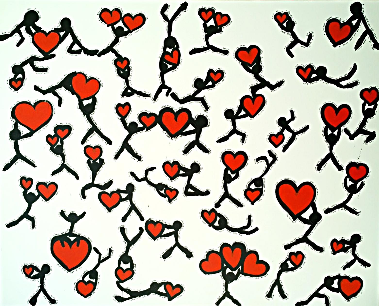 LOVE CAN ... (l'amour peut …)  acrylique sur toile, 200x160cm  7'800 euros