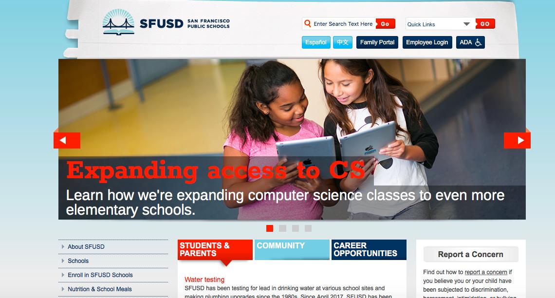 Go to sfusd.edu