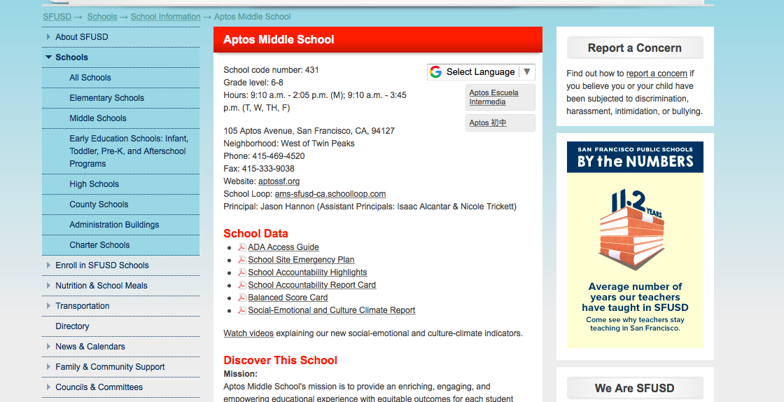 "Click on ""School Accountability Highlights"" and ""Balanced Scorecard"""